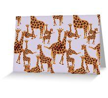 Giraffe Pattern Greeting Card