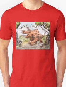 Happy Triceratops Unisex T-Shirt