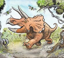 Happy Triceratops by SnakeArtist