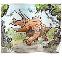 Happy Triceratops Poster