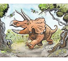 Happy Triceratops Photographic Print