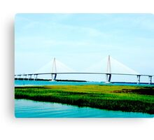 Charleston Bridge.. Canvas Print