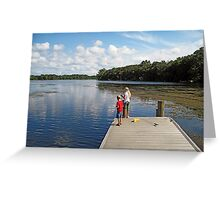 Martin Lake Parker, Florida Greeting Card