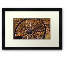 the Old Wagon Wheel Framed Print