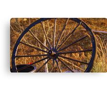 the Old Wagon Wheel Canvas Print