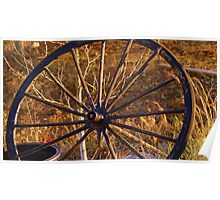 the Old Wagon Wheel Poster