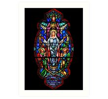 Angels with Mary Stained Glass Art Print