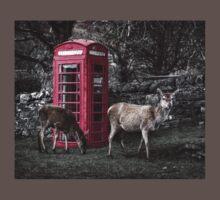 Deers @ Red Telephone Box (Kiosk 6) One Piece - Short Sleeve