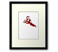 Halo Master Chief red Framed Print