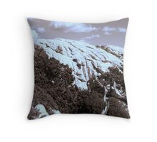 MOUNTAINS in Sepia tone Throw Pillow