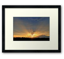 *CREPUSCULAR RAYS Framed Print