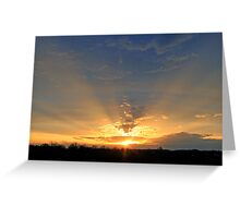 *CREPUSCULAR RAYS Greeting Card
