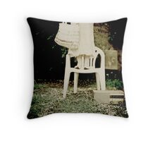 Bench Monday Throw Pillow