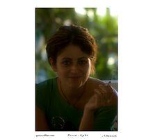 Faces of Greece .   Lady in GREEN . Kriti - Bali . . Brown Sugar . O ti epithimite !!! Views(562) Epitichia ! Thanks Friends !!! Photographic Print