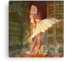 Marilyn Monroe - Chicago, study. Canvas Print