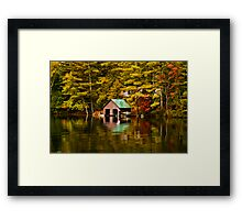 The Boat House-Lake Paradox Framed Print