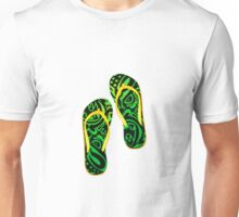 Beach Sandals ( ( tiki masks design ) Unisex T-Shirt