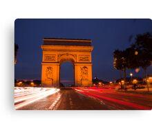 Traffic at Arc de Tiromphe Canvas Print