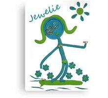 Jewelie Goes Surfing Canvas Print