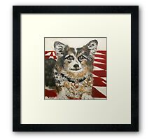Corgi in the Kitchen Framed Print