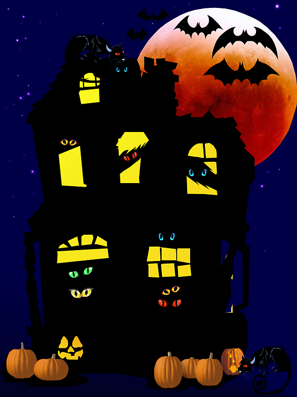 Halloween Mansion by Lotacats