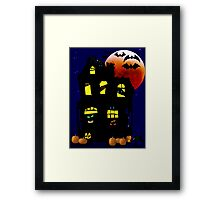Halloween Mansion Framed Print