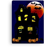 Halloween Mansion Canvas Print