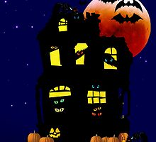 Happy Halloween Mansion by Lotacats