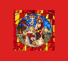 Jesus Birth Stained Glass Unisex T-Shirt