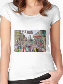 Funny TV and movie stars Women's Fitted Scoop T-Shirt