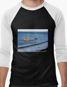 Rock Islands, Penguin, Tasmania, Australia. Men's Baseball ¾ T-Shirt