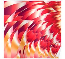 Red and yellow fractal design. Poster