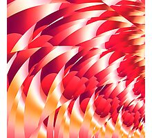 Red and yellow fractal design. Photographic Print