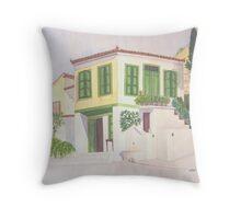 Ano Ayios, Michali's house, Samos, Greece Throw Pillow
