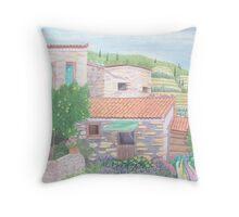 Manolates, Stone houses Throw Pillow