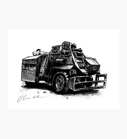 Saxon Armoured Personnel Carrier Photographic Print