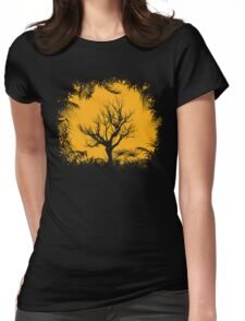 Tree Clearing Womens Fitted T-Shirt
