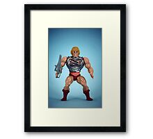 He-Man (battle damage) Framed Print