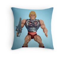 He-Man (battle damage) Throw Pillow
