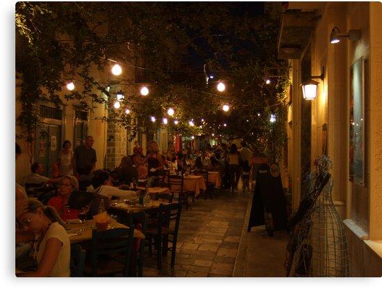 Restaurant Street (Ermoupolis, Syros) by Themis