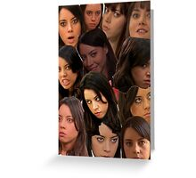 April Ludgate Collage Greeting Card