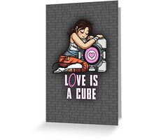L0VE is a CUBE (Portal 2 ver.) Greeting Card