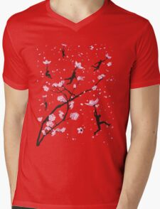 Blossom Flight Mens V-Neck T-Shirt