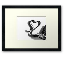 For the love of film Framed Print