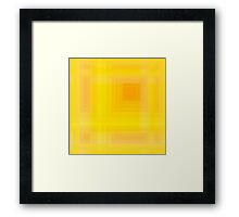Golden-Yellow Plaid Framed Print