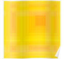 Golden-Yellow Plaid Poster