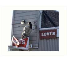 Now This Guy Likes His Levi's Art Print