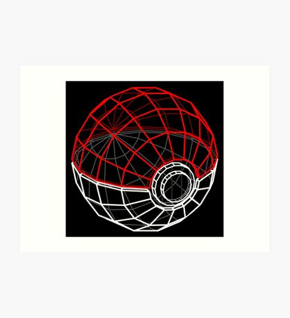Pokeball 3D Art Print