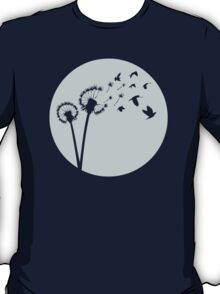 Dandelion Bird Flight T-Shirt