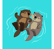 Cute: Sea Otters Photographic Print